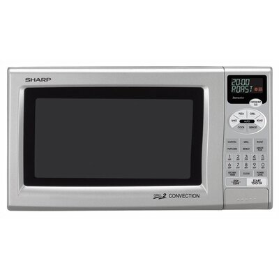 Sharp 0.9 Cu. Ft. 900 Watt Grill 2 Convection Countertop Microwave in Silver
