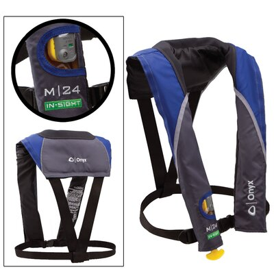 M 24 In-Sight Manual Inflatable Life Jacket in Blue