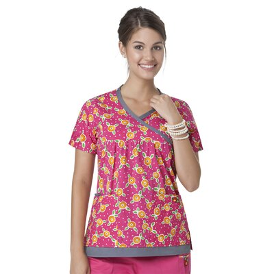 Mary Engelbreit 100% Cotton Y' Neck Trimmed Top