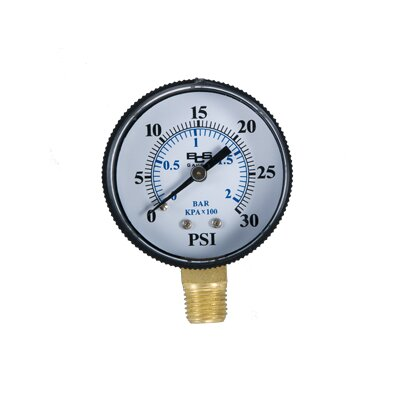 Birch Instrument 0 - 30 lb Pressure Gauge