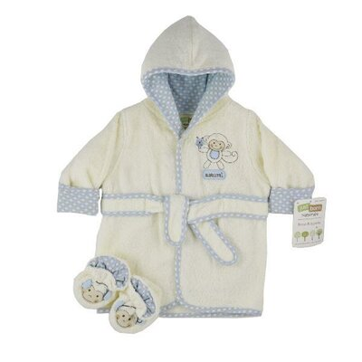 Triboro Just Born Organic Robe and Bootie Set