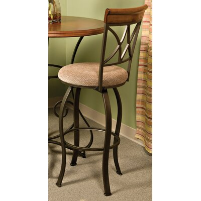 Powell Pewter 29 Quot Swivel Bar Stool With Cushion Amp Reviews