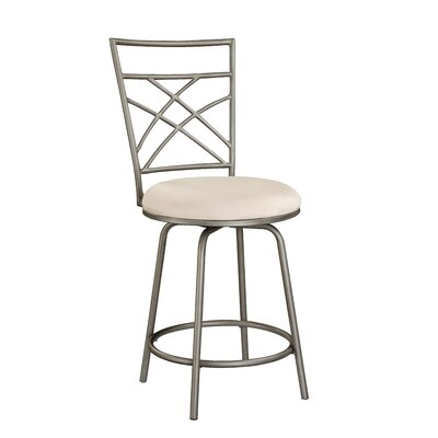 Powell Cafe Counter Stool in Distressed Antique Gold with Pewter Accent