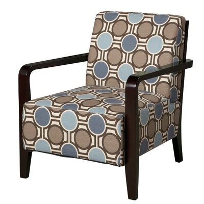 Powell Furniture Bentwood Fabric Arm Chair