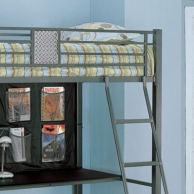 powell monster bedroom twin study bunk bed with desk and built in