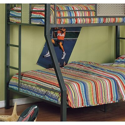 powell furniture monster bedroom twin over full bunk bed with built in