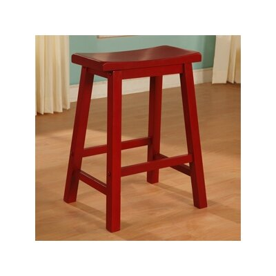 "Powell Furniture Color Story 24"" Crimson Red Counter Stool"