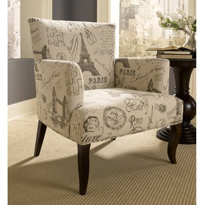 Powell Furniture French Calligraphy Wingback Chair
