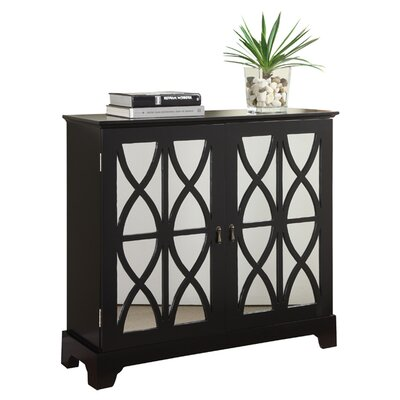 Console Cabinet With Glass Doors Mirage Regency Silver