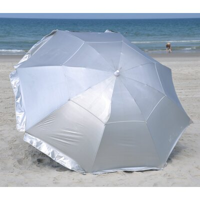 8' Deluxe Dual Canopy Beach Umbrella
