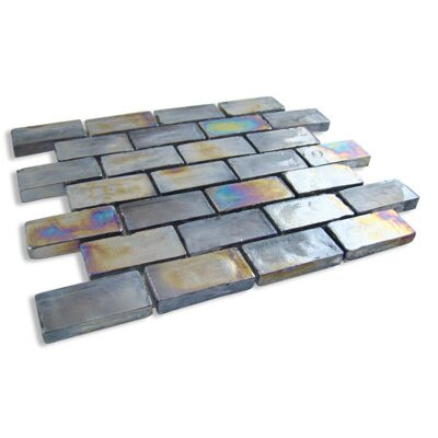 "Diamond Tech Tiles Vista 12"" x 12"" Mosaic in Harbor Mist"