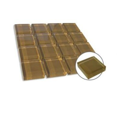 "Diamond Tech Tiles Dimensions Solid 4"" x 8"" Glass Mosaic in Chocolate"