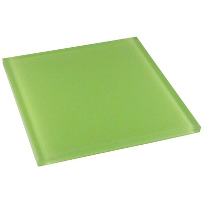 "Diamond Tech Tiles Dimensions Solid 6"" x 6"" Glass Tile in Light Green"