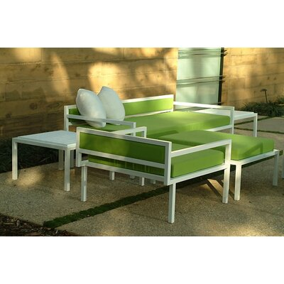 Modern Outdoor Talt Low Deep Seating Group with Cushions