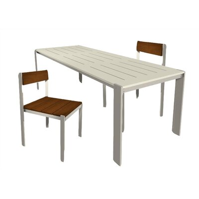 Modern Outdoor Luma 3 Piece Dining Set