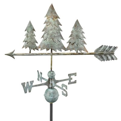 Good Directions Full Size Weathervane Pine Trees in Blue Verde