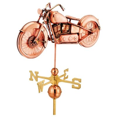 Good Directions Full Size Weathervane Motorcycle in Polished
