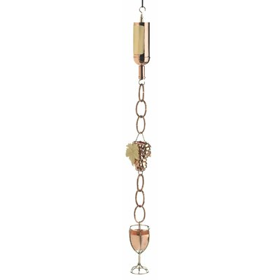 Wine Bottle Rain Chain Leader