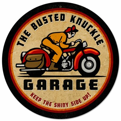 Almost There Busted Knuckle Garage Motorcycle Sign