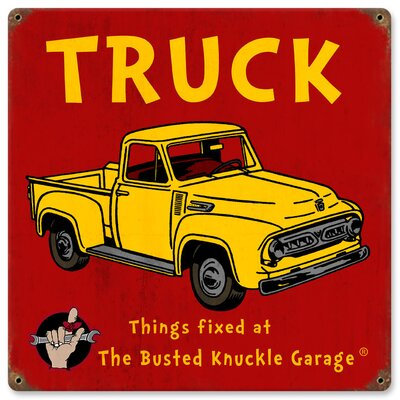 Almost There Busted Knuckle Garage Kid's Vintage Truck Sign