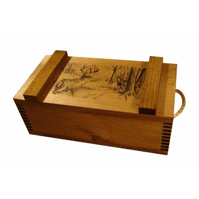 Evans Sports Wooden Crate with Deer Print