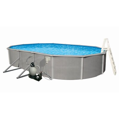 "Swim Time Oval 48"" Deep Belize Above Ground Pool Package"