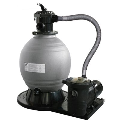 "Swim Time 22"" Sand Filter System with 1.5 Horse Power Pump"