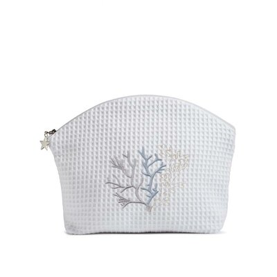 Jacaranda Living Coral Duck Egg Blue Cosmetic Bag