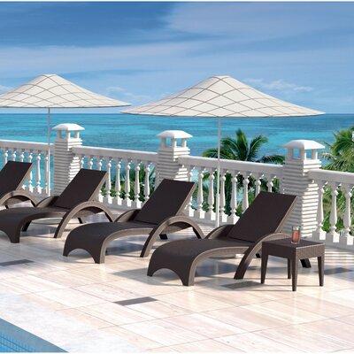 Compamia Miami Resin Wickerlook Chaise Lounge