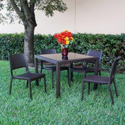 Compamia Wickerlook 5 Piece Dining Set