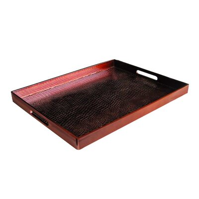 <strong>Accents by Jay</strong> Alligator Rectangle Tray
