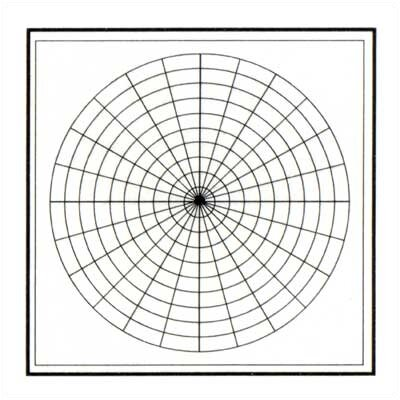 Marsh Graphics - Polar Coordinates 4' x 4' Whiteboard