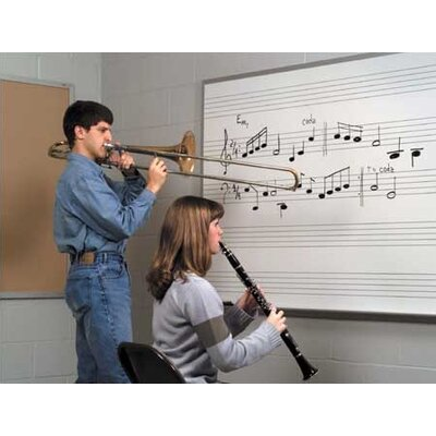 Marsh Graphics Markerboards - Music Staff Lines 4' x 10'