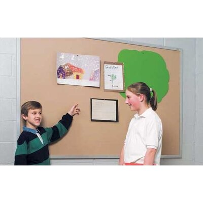 Marsh Plas-Cork Bulletin Boards - Aluminum Frame