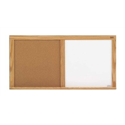Marsh Cork &amp; Remarkaboard Combinations - Bulletin Boards - Oak Frame 1' x 3'