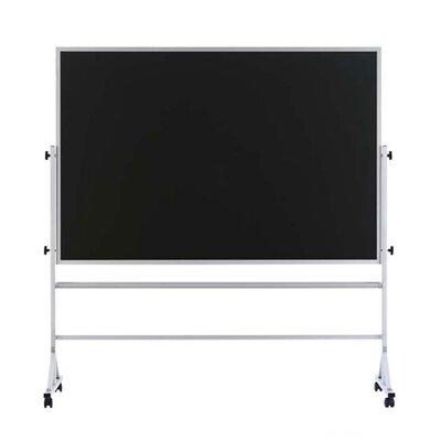 Marsh Freestanding Reversible Boards - Both sides Deluxe Steel-Rite Chalkboard - Aluminum Frame