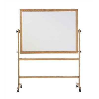 Marsh Freestanding Reversible Boards - Both sides Pro-Rite Markerboard - Oak Frame