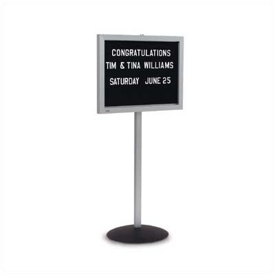 Marsh Single Pedestal Directory Boards - Aluminum