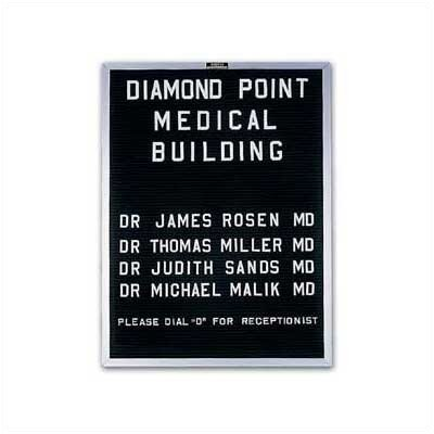 Marsh Wall-Mounted Open-Face Directory Boards - Aluminum