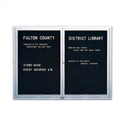 Marsh Wall-Mounted Deluxe Enclosed Directory Boards - Aluminum