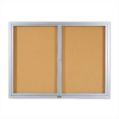 Marsh Deluxe Enclosed Bulletin Boards - Aluminum Frame