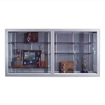 Marsh Series 50 Wall-Mounted Sliding Glass Door Trophy Cases - Vinyl Fabric (without Lighting)