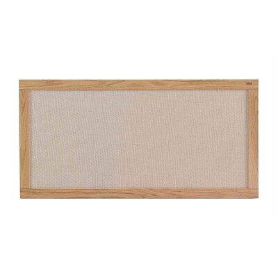 Marsh Burlap Fabric Covered Bulletin Boards - Oak Frame