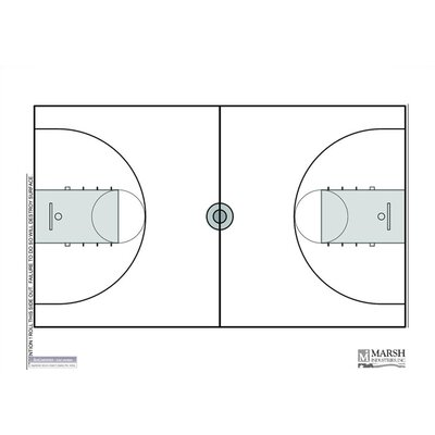 Marsh Magnetic Dry-Erase Coaching Aides Mat - Basketball