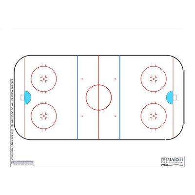 Marsh Magnetic Dry-Erase Coaching Aides Mat - Hockey