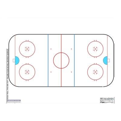 Marsh Magnetic Dry-Erase Coaching Aides Mat - Hockey