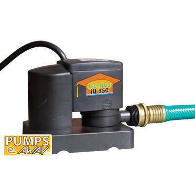 Above-Ground Cover Pump with Auto On / Off in Black