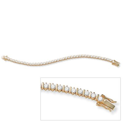 Palm Beach Jewelry 14k Gold Plated Cubic Zirconia Tennis Bracelet