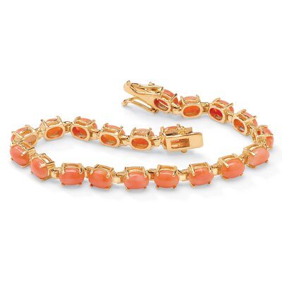 Palm Beach Jewelry Gold Plated Coral Bracelet