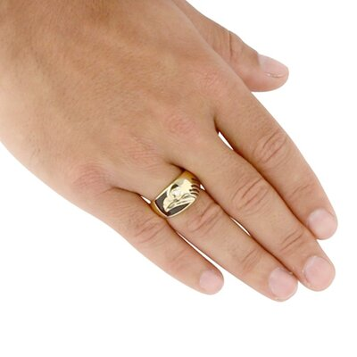 Palm Beach Jewelry Gold Plated Men's Cubic Zirconia Eagle Ring
